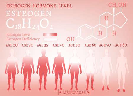 Estrogen Woman Image Иллюстрация