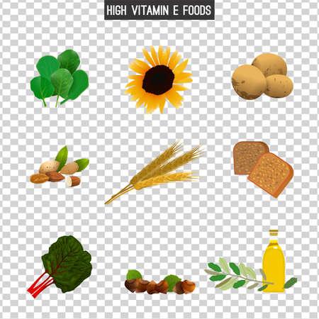 High in vitamin E foods.