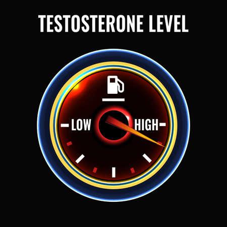 deficiency: Testosterone deficiency concept. Illustration