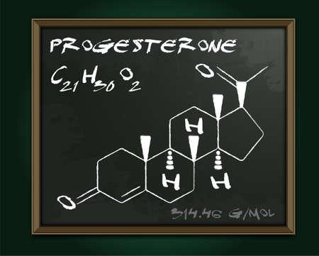 Progesterone molecule image.