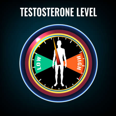 Testosterone deficiency concept Stock Illustratie