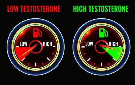 Testosterone deficiency concept Illustration