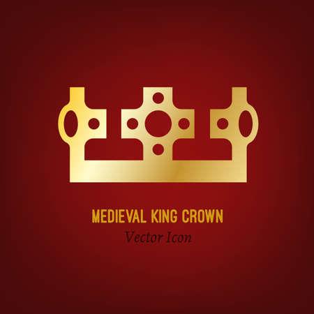 royal person: Medieval king crown Illustration
