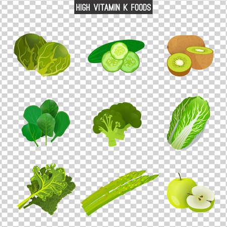 食品中のビタミン K 写真素材