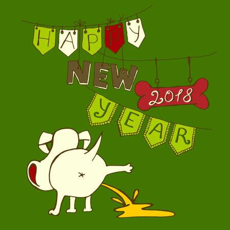 New Year Postcard Stock Photo