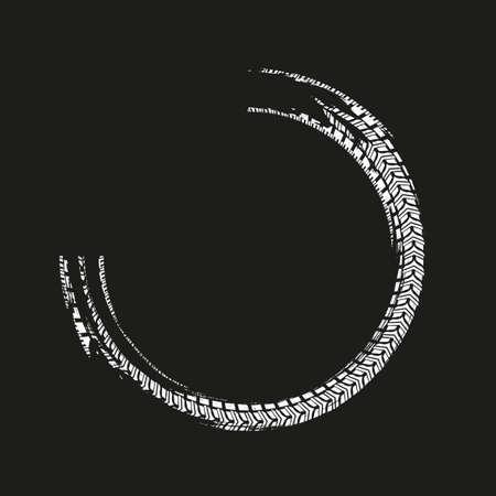 Grunge Tire Element 版權商用圖片 - 88061833
