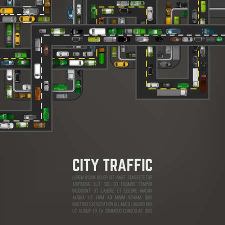 City traffic background Çizim