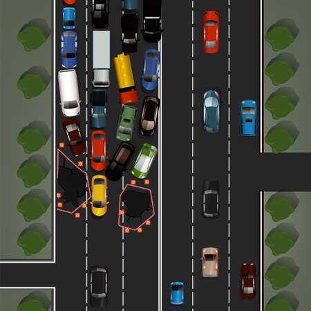Road accident image