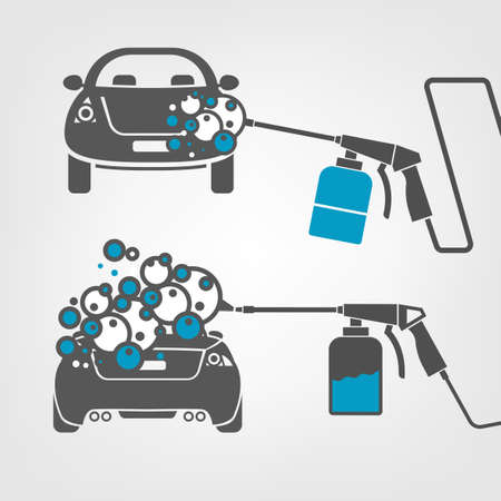 Car wash image. Illustration
