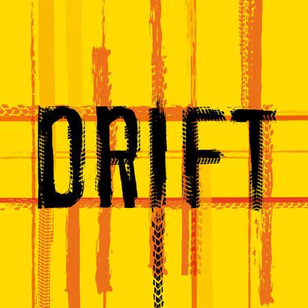 Drift lettering. Illustration
