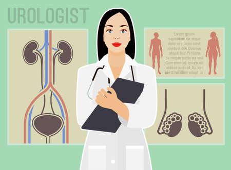 Vector urologist image Stock Photo