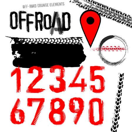 Off Road Set vector illustration.