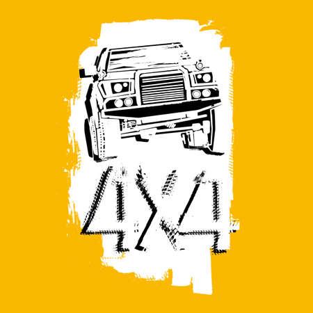 jeep: Off Road Image. Illustration