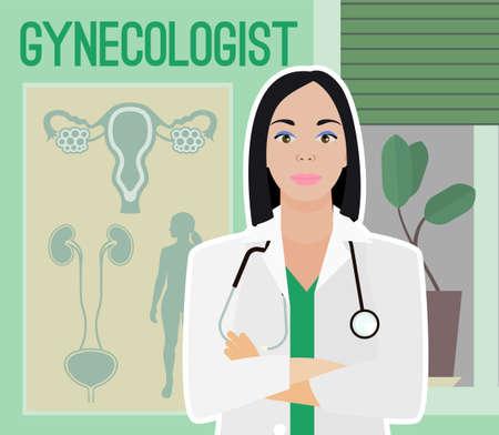 Gynaecoloog vector afbeelding