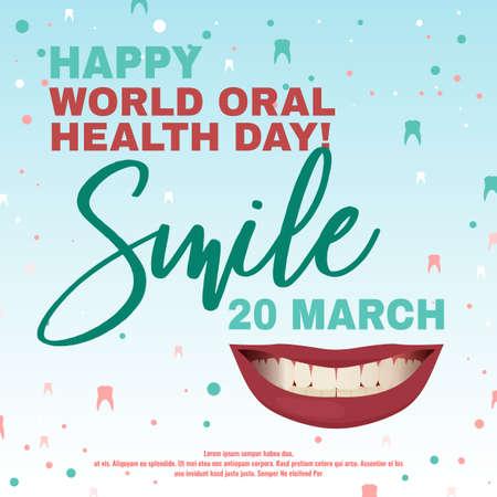 Oral Health Day Vettoriali