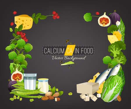 Calcium Food Background