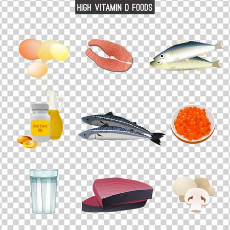 Vitamin D in Food Stok Fotoğraf