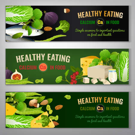 Calcium in Food Banners