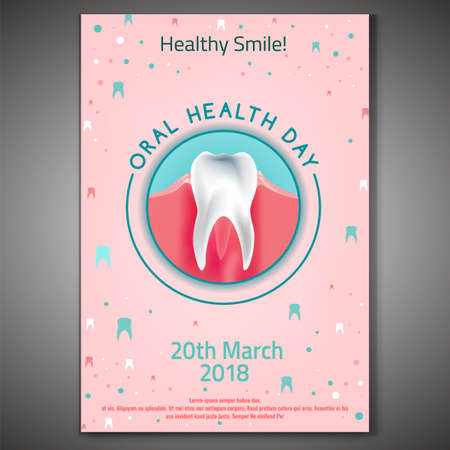 Oral Health Day symbol icon design.  イラスト・ベクター素材