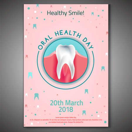 Oral Health Day symbol icon design. Illustration