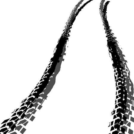 Reifen spürt Bildikonenillustration auf
