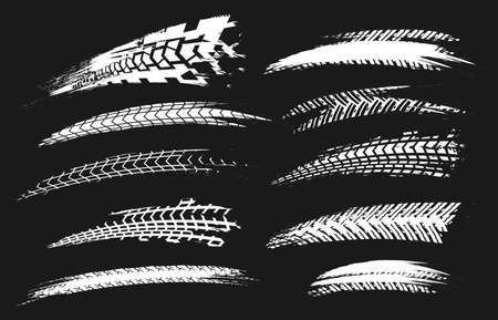 Motorcycle tire tracks image illustration  イラスト・ベクター素材