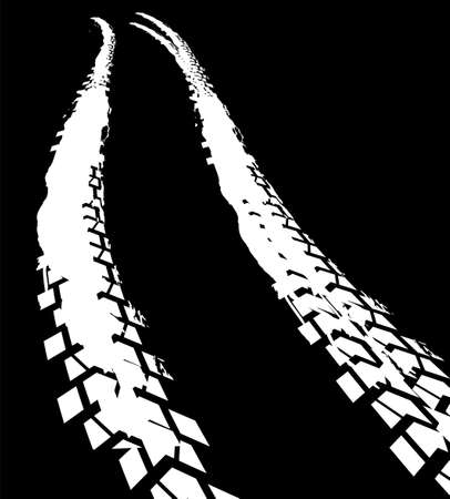 Tire Tracks Print Texture. Off-road background. Vector illustration.