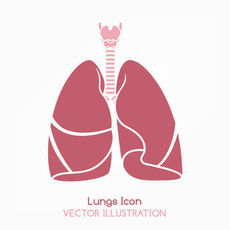 Human lungs icon Vector illustration.