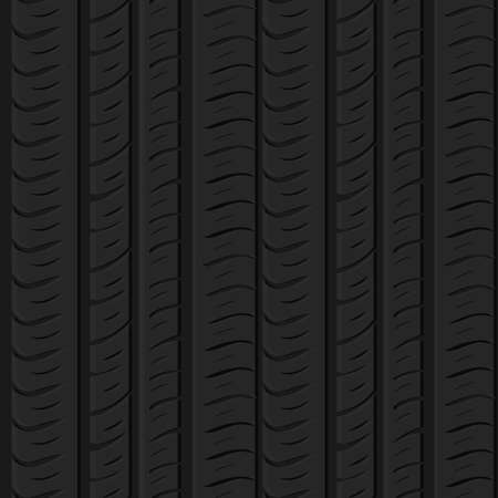 Motor tire tracks vector illustration. Seamless automotive pattern useful for poster, print, flyer, book, booklet, brochure and leaflet backgrounds design. Editable graphic image in grey color.