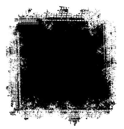 Vector automotive tire tracks frame background. Grunge skid marks backdrop for poster, digital banner, flyer, booklet, brochure, web design. Editable graphic image in black color Vektorgrafik