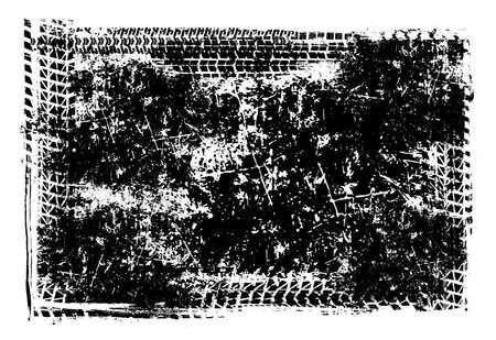 Vector automotive tire tracks frame background. Grunge skid marks backdrop for poster, digital banner, flyer, booklet, brochure, web design. Editable landscape graphic image in black color Ilustrace