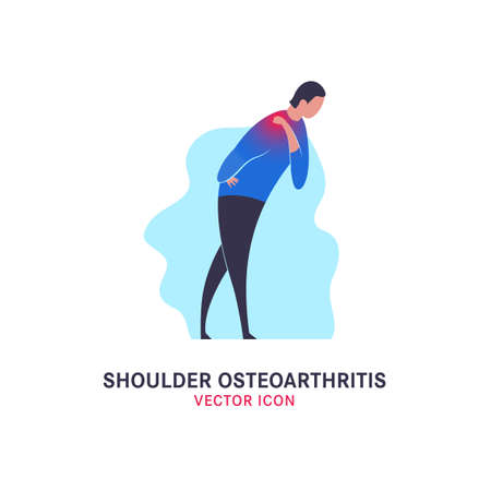 Shoulder osteoarthritis icon Illustration