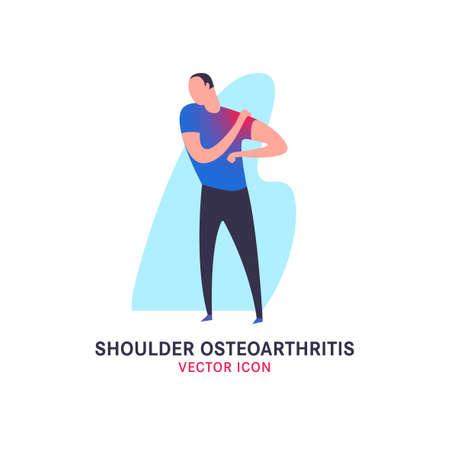 Shoulder osteoarthritis icon Vectores