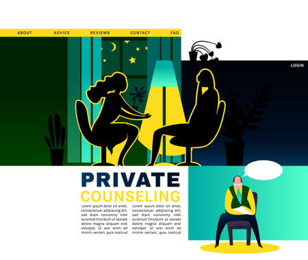 Psychologist creative concept Illustration