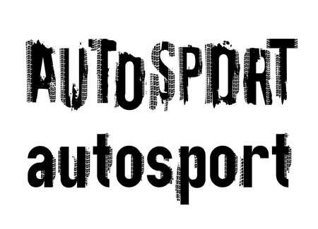 Off-Road grunge autosport lettering Illustration