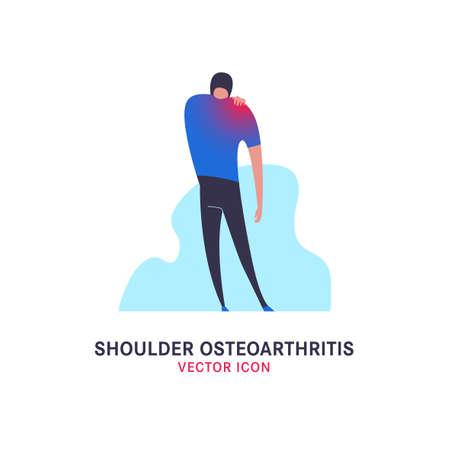 Icône d'arthrose de l'épaule Vecteurs