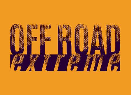 Off-Road grunge lettering 版權商用圖片 - 124397738