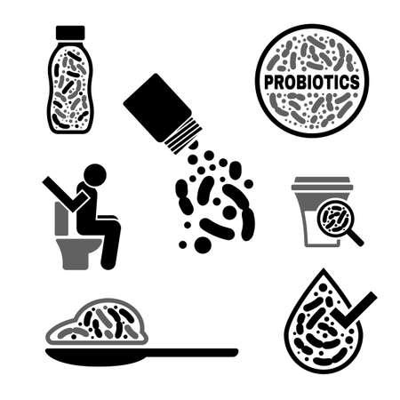 Iconos de probióticos Lactobacillus