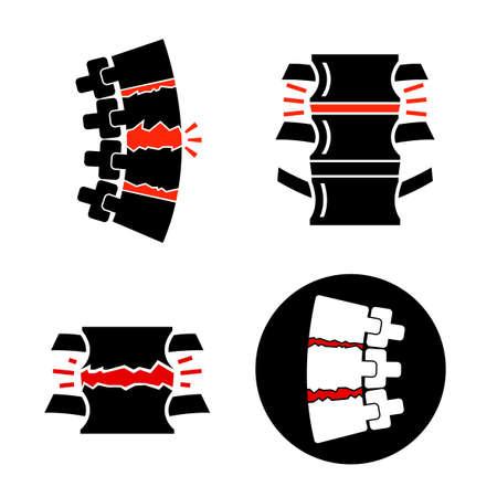 Spine osteoarthritis icon Stock Vector - 124397762