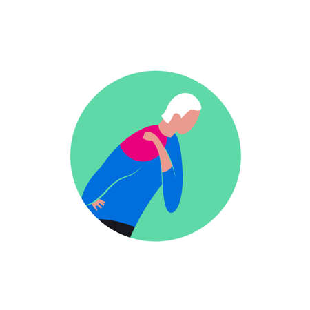 Shoulder osteoarthritis icon Illustration