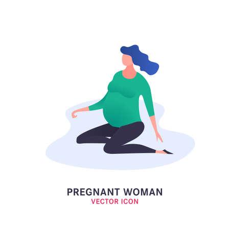 Symbol für schwangere Frau Vektorgrafik