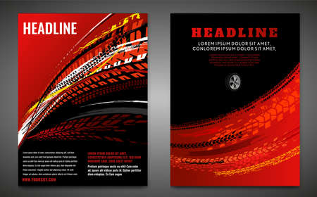Grunge-Reifen-Poster-Set