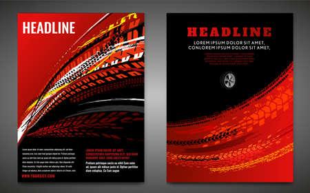 Grunge Tire Poster Set