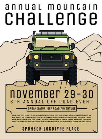 Cartel del evento de automovilismo