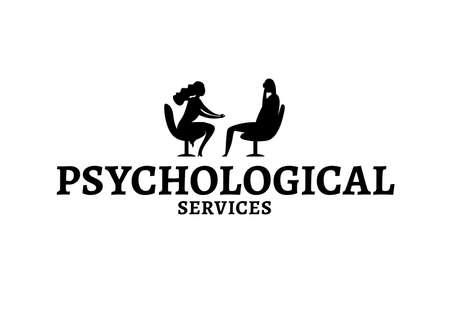 Psychologist, psychotherapist image Иллюстрация