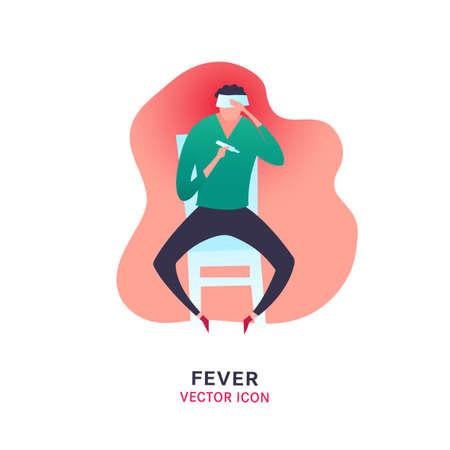 Fever vector icon