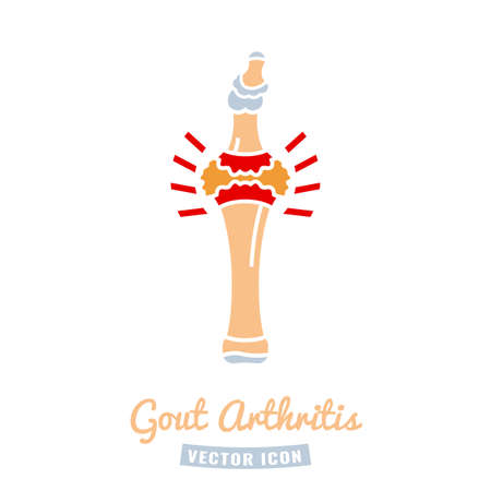 Gout arthritis icon