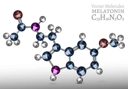 Melatonin molecule structure