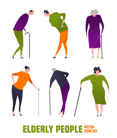 Old people icons Ilustrace