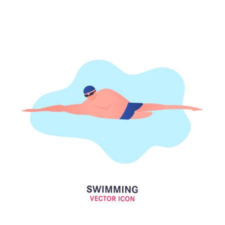 Vector swimming icon 版權商用圖片 - 131593643